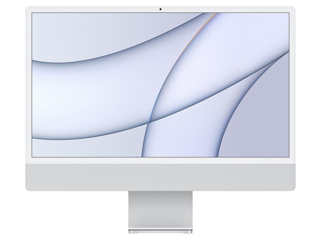 Моноблок APPLE iMac 24 Retina 4.5K Silver MGTF3RU/A (Apple M1/8192Mb/256Gb/Wi-Fi/Bluetooth/Cam/24/4880x2520/Mac OS)