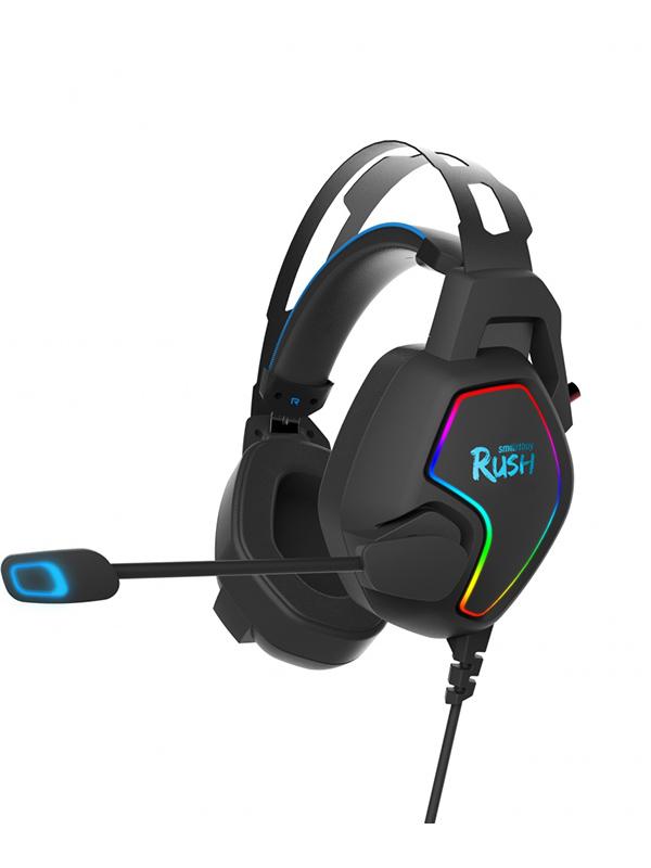 Наушники Smartbuy Rush Ambition RGB Black-Blue SBHG-6100