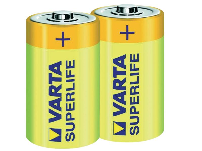 Фото - Батарейка D - Varta SuperLife R20 2020 (2 штуки) VR R20/2SH SL батарейка c varta superlife 2014 r14 2 штуки 01240