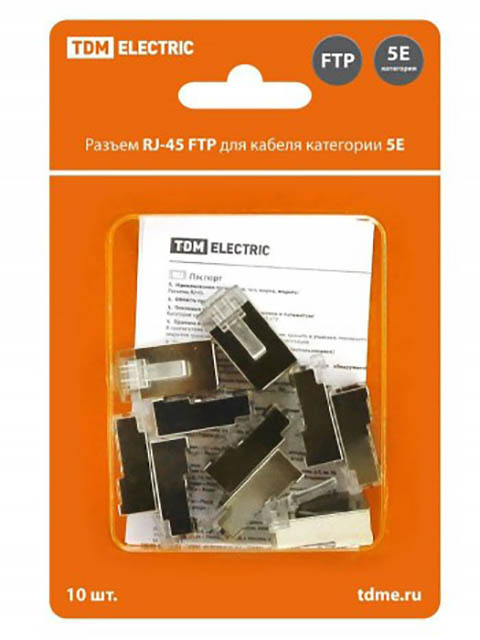 Фото - Сетевой кабель TDM-Electric RJ-45 8P8C - 10шт SQ0561-0005 лампа галогенная tdm sq0341 0005