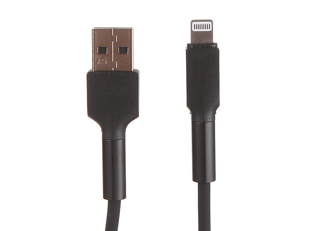 Фото - Аксессуар Baseus Silica Gel Cable USB - Lightning 1m Black CALGJ-01 аксессуар baseus lightning 2a kevlar 1m black gold calklf bv1
