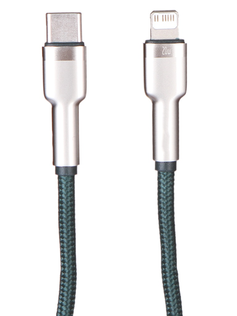 Фото - Аксессуар Baseus Cafule Series Metal Data Cable Type-C - Lightning PD 20W 1m Green CATLJK-A06 t type male chastity belt sexy panty stainless steel chastity device sex toys for men penis cock cage metal adult products