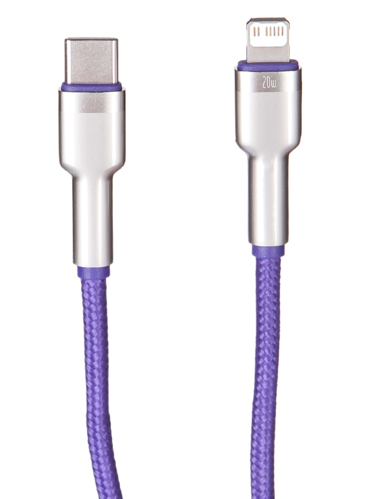 Фото - Аксессуар Baseus Cafule Series Metal Data Cable Type-C - Lightning PD 20W 1m Purple CATLJK-A05 t type male chastity belt sexy panty stainless steel chastity device sex toys for men penis cock cage metal adult products