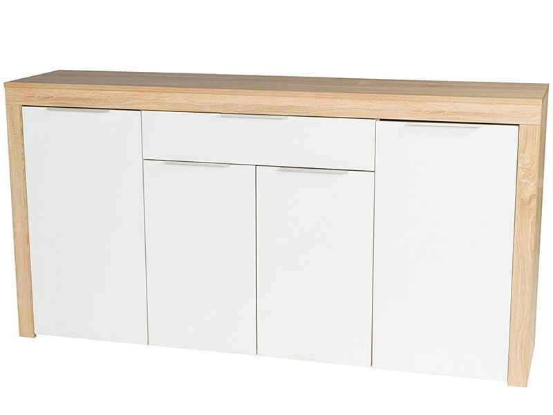 Комод Vental НК-5 (Фасады МДФ) Дуб Сонома-White Gloss комод комод нк 5 комод нк 5