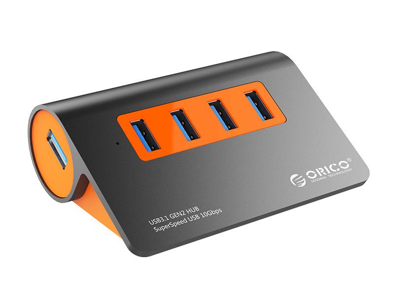 Хаб USB Orico M3H4-G2 5-Ports Orange