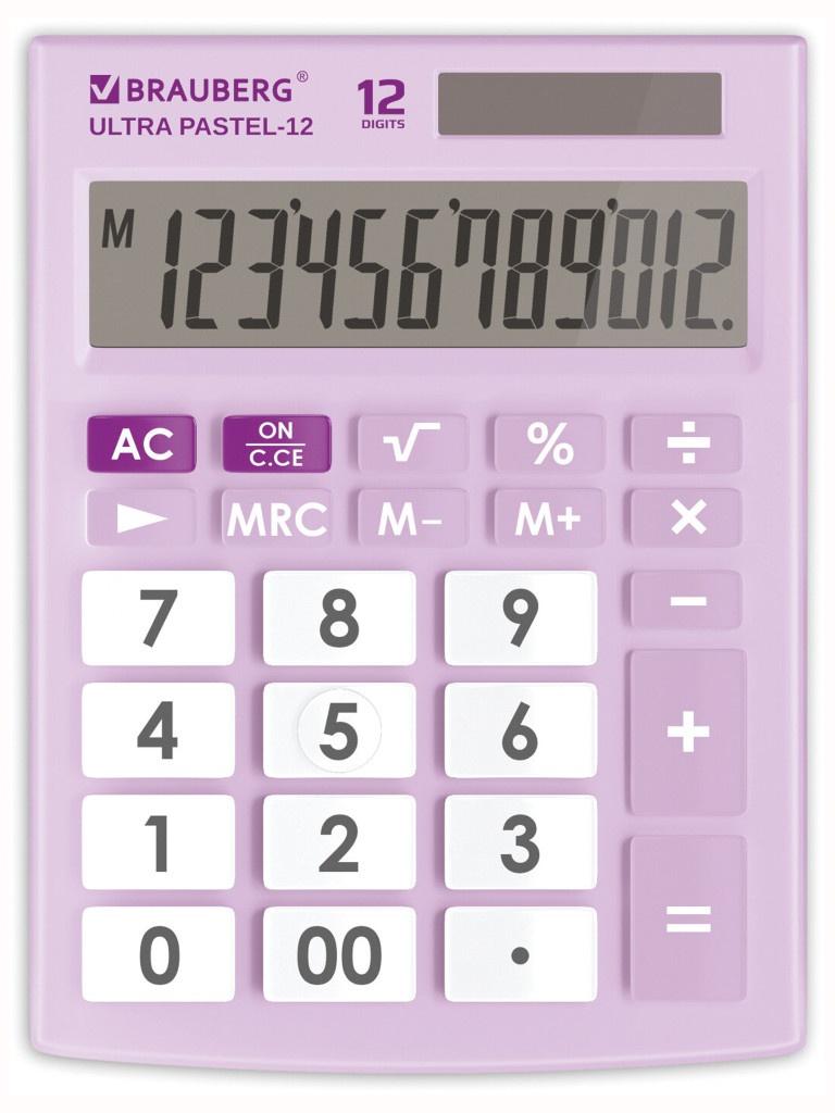 Калькулятор Brauberg Ultra Pastel-12-PR 250505 0 pr на 100