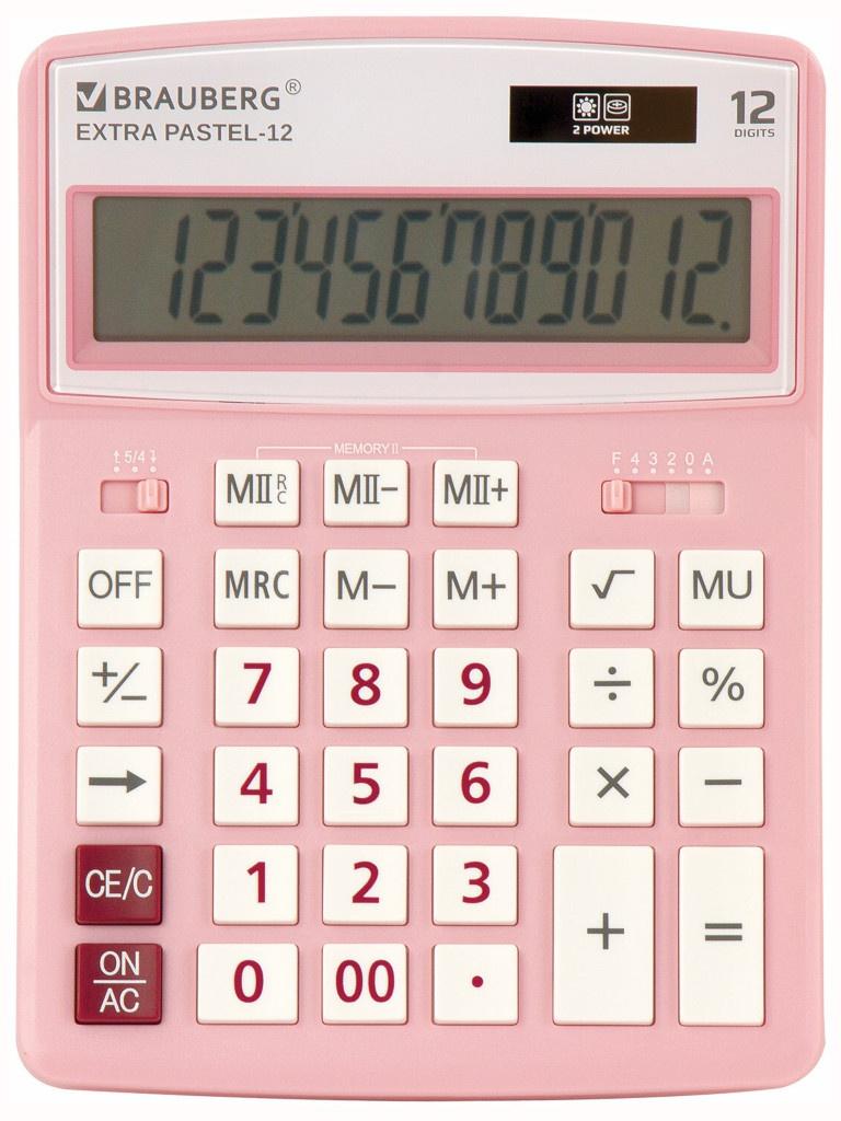 Калькулятор Brauberg Extra Pastel-12-PK 250487