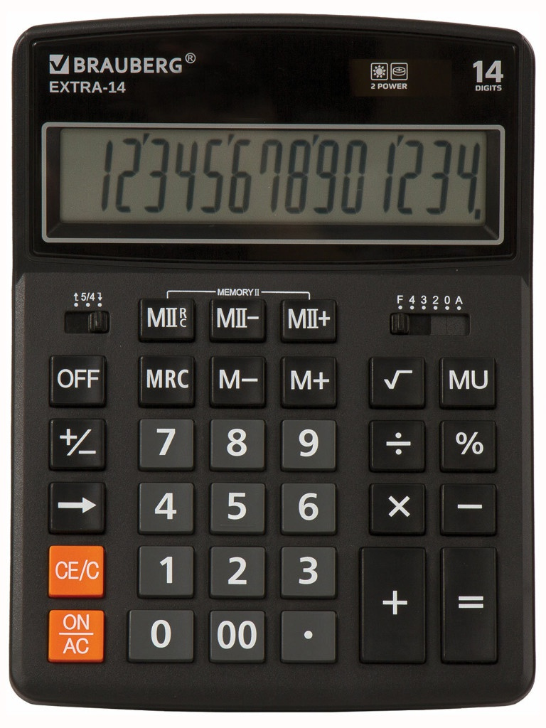 Калькулятор Brauberg Extra-14-BK 250474