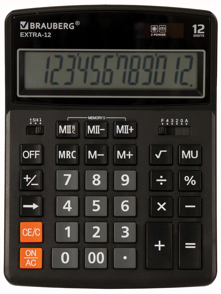Калькулятор Brauberg Extra-12-BK 250481