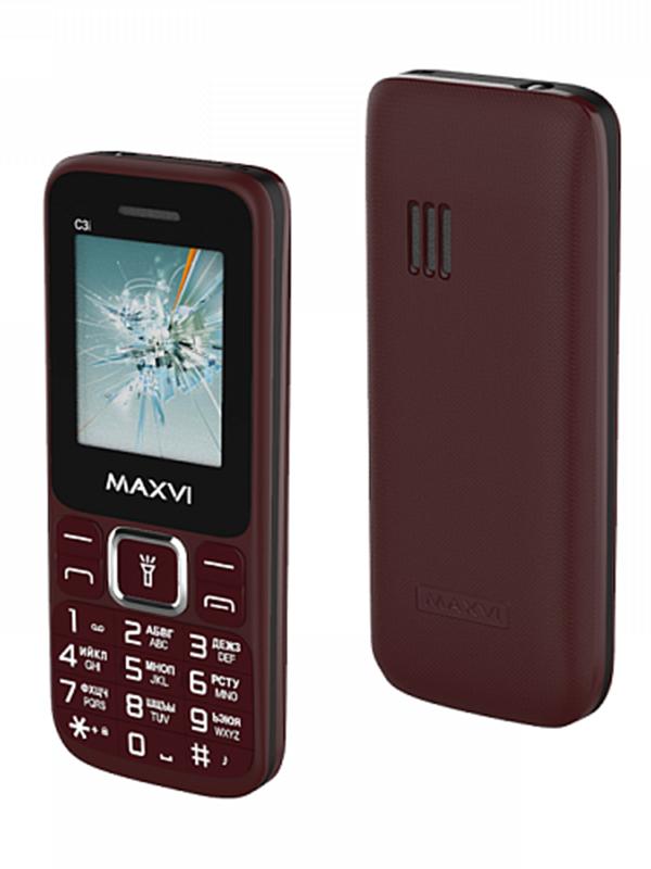 Фото - Сотовый телефон Maxvi C3i Wine Red сотовый телефон