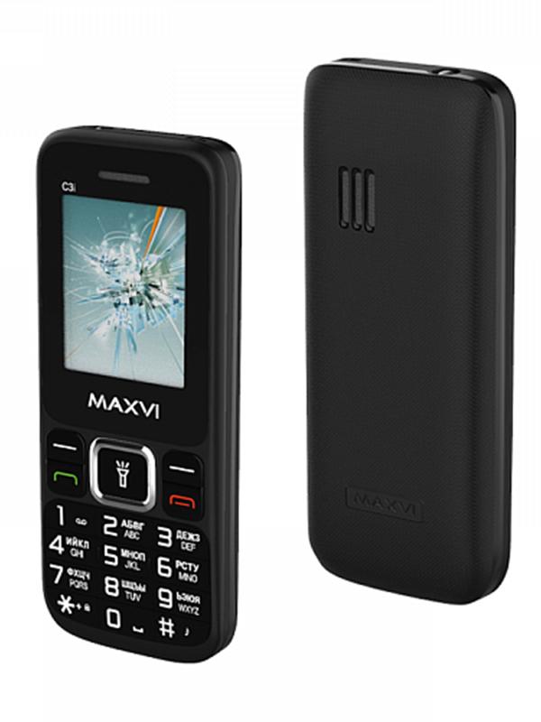 Фото - Сотовый телефон Maxvi C3i Black сотовый телефон