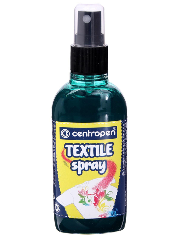 Краска-спрей для ткани и одежды Centropen Textile Spray 110ml Green 91139 0010