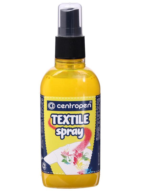 Краска-спрей для ткани и одежды Centropen Textile Spray 110ml Yellow 91139 0001