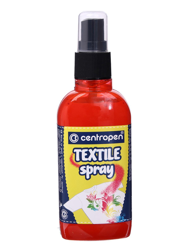 Краска-спрей для ткани и одежды Centropen Textile Spray 110ml Red 91139 0004