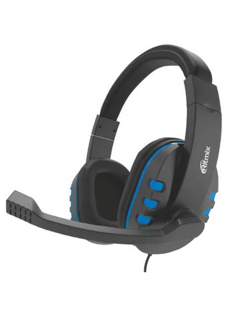 Наушники Ritmix RH-555M Gaming Blue наушники ritmix rh 566m gaming