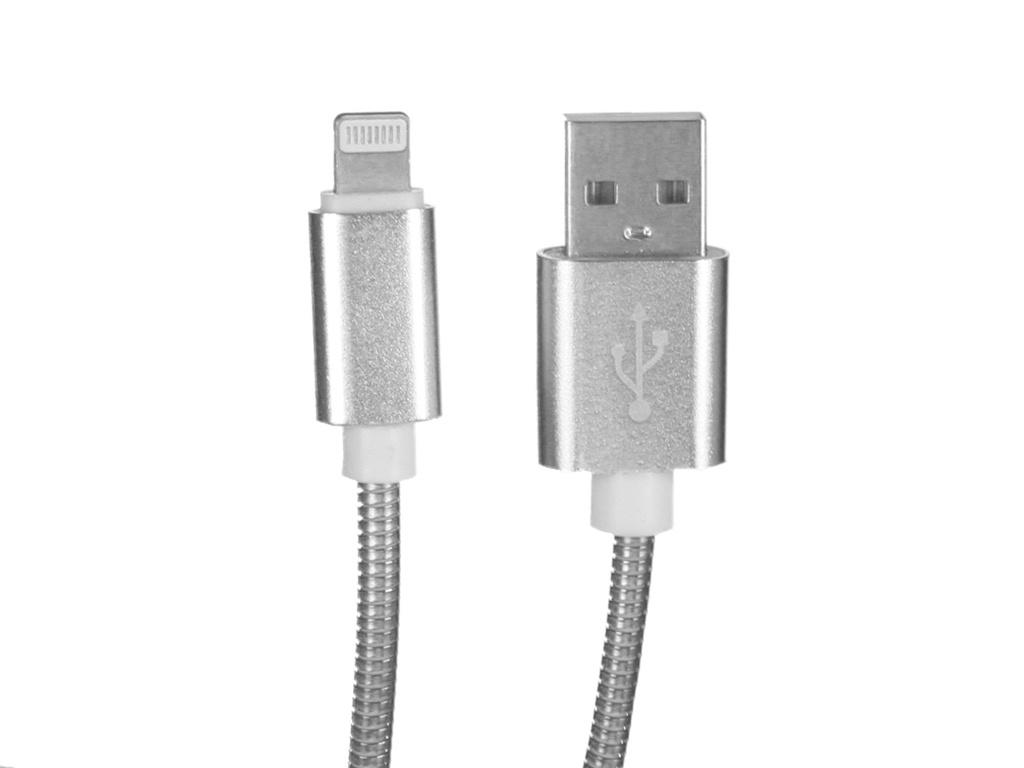 Фото - Аксессуар WIIIX USB - Lightning 1m Silver CB520-U8-10S аксессуар wiiix usb lightning 1m white cb 716 u8 1 0 w