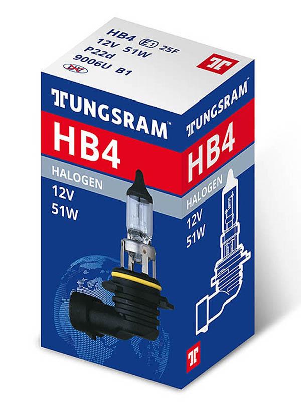 Лампа Tungsram HB4 12V 51W P22d (1 штука) 9006U B1