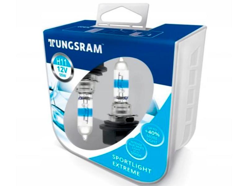 Лампа Tungsram H11 12V 55W PGJ19-2 SportLight Extreme 2шт 53110SUP