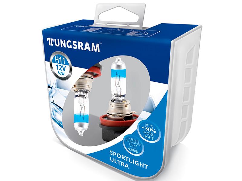 Лампа Tungsram H11 12V 55W PGJ19-2 Sportlight Ultra 2шт 53110SBU