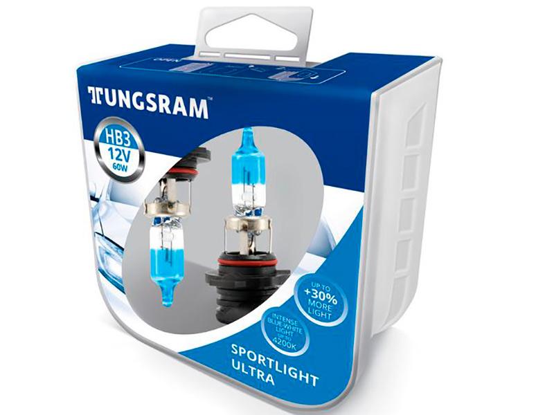 Лампа Tungsram HB3 12V 60W P20d Sportlight Ultra (2шт) 9005SBU PB2