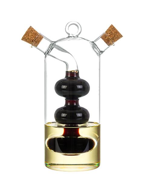 Фото - Бутылка для масла и уксуса Elan Gallery 2в1 320+75ml 300139 бутылка д масла уксуса 2в1 350 60мл с 2 мя пробками стекло