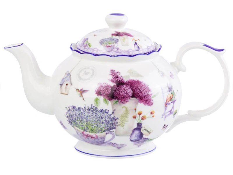 Заварочный чайник Elan Gallery New Bone China Лаванда 1.1L 420147