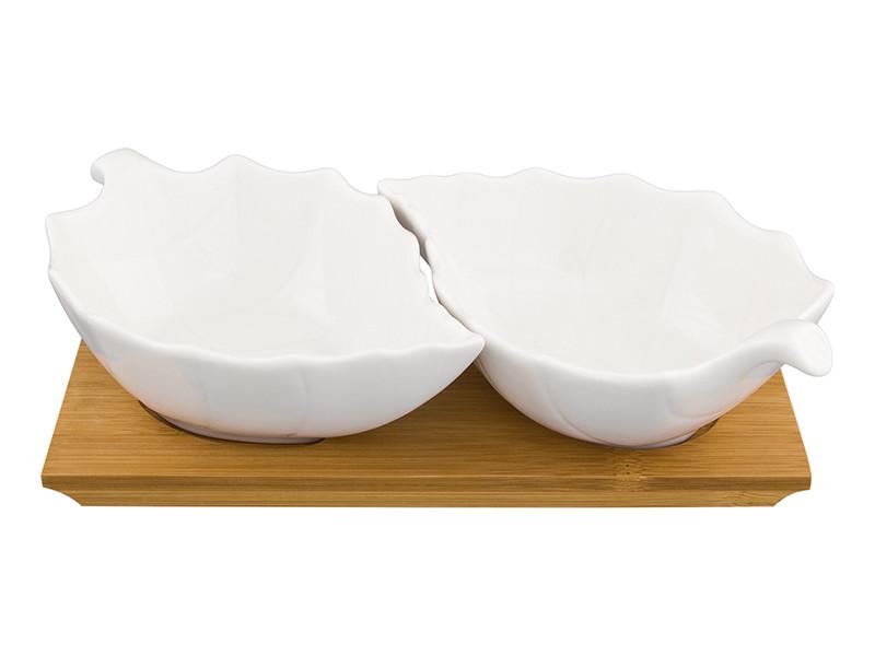 Блюдо Elan Gallery Лепестки 20x12x5cm 2шт 540145