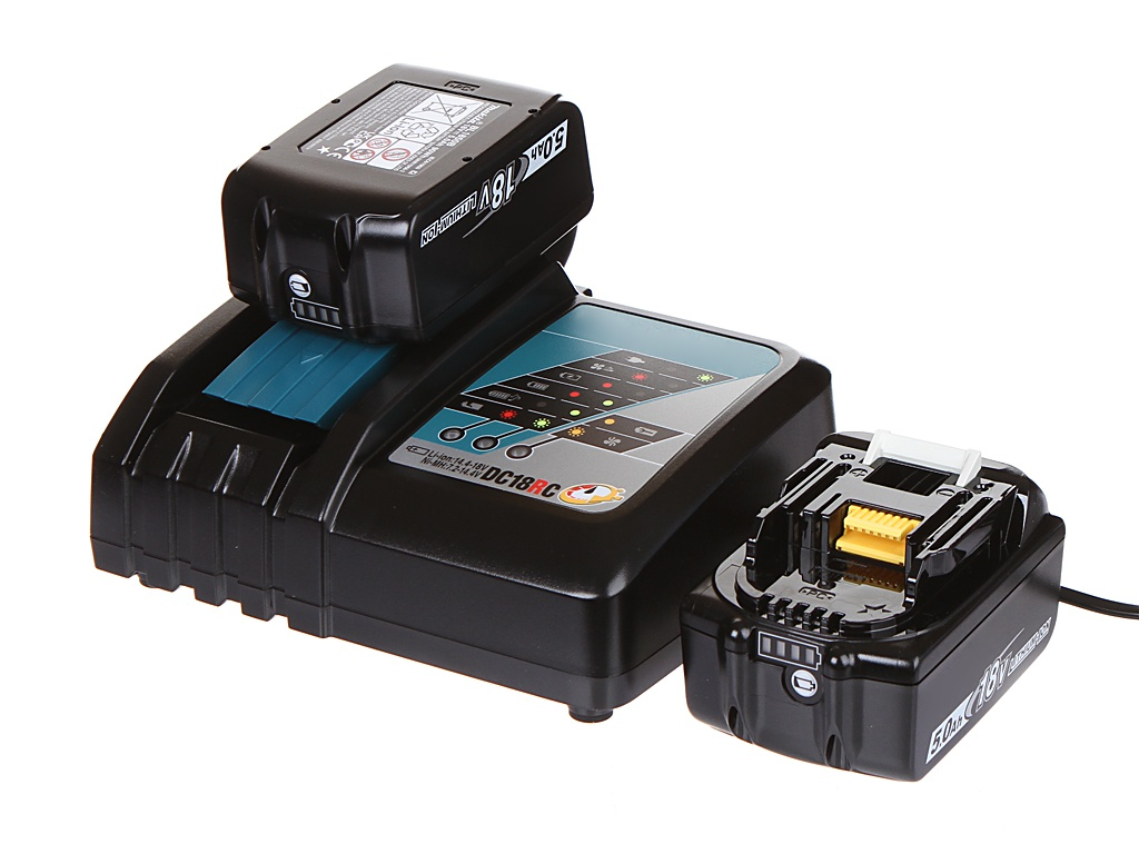 Комплект Makita Аккумулятор BL1850B Li-ion 18V 5Ah х2шт + ЗУ DC18RC 191L74-5