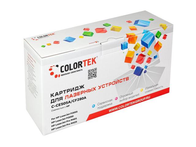 Картридж Colortek (схожий с HP CE505A/CF280A) для LJ P2030/P2035/P2050/P2055