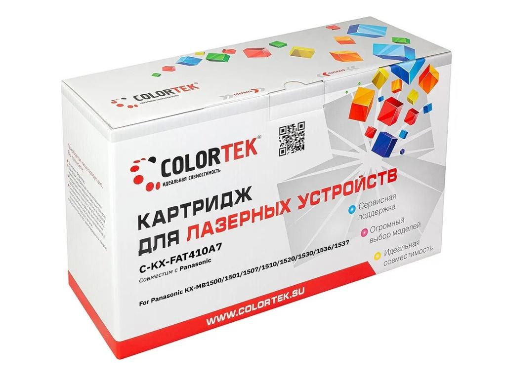 Картридж Colortek (схожий с Panasonic KX-FAT410A) Black для KX-MB1500/KX-MB1501/KX-MB1507/ KX-MB1510/KX-MB1520/KX-MB1530KX-MB1536/KX-MB1537