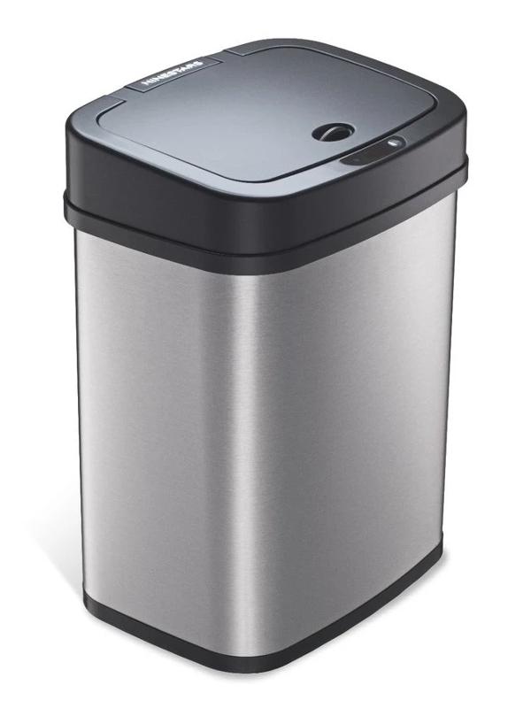 Мусорное ведро Xiaomi Ninestars Stainless steel Sensor Trash Can 12L DZT-12-5 Silver