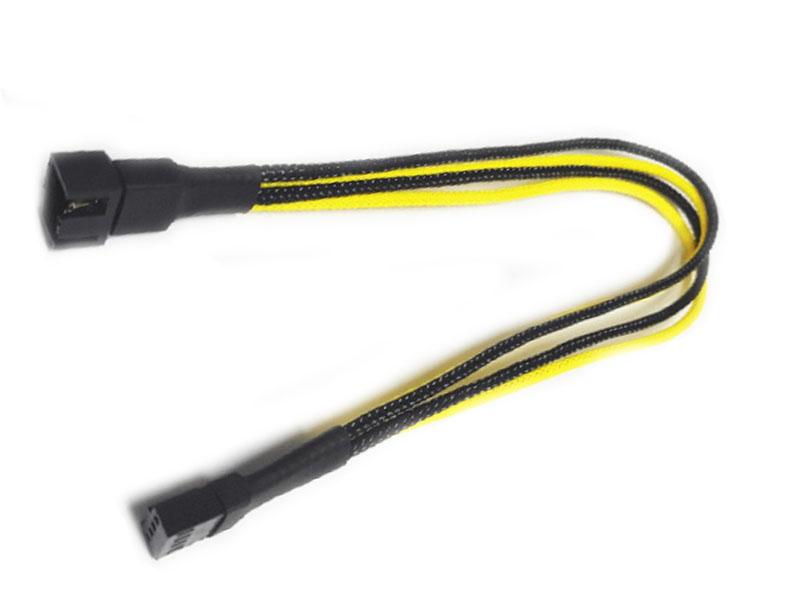 Аксессуар Удлинитель Nanoxia 4-pin PWM 30cm Black-Yellow NXPWV3ESG