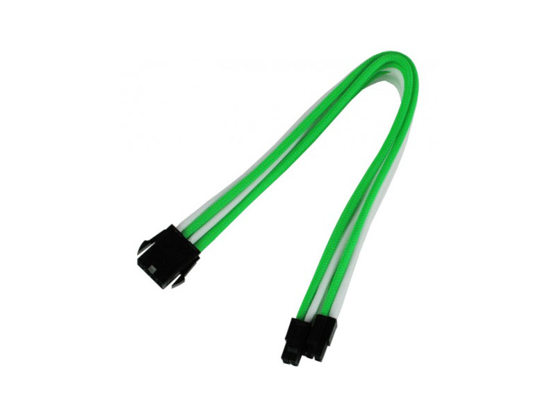 Аксессуар Удлинитель Nanoxia 8-pin EPS 30cm Green-White NX8PV3EGW