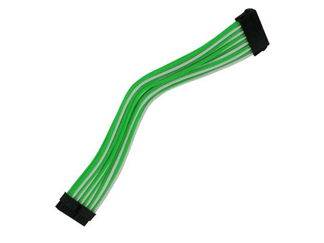 Аксессуар Удлинитель Nanoxia 24-pin ATX 30cm Green-White NX24V3EGW