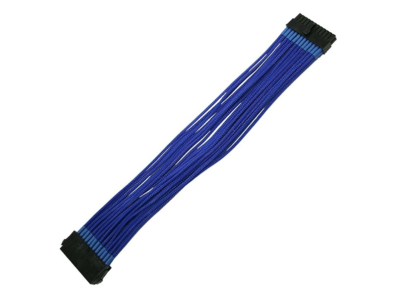 Аксессуар Удлинитель Nanoxia 24-pin ATX 30cm Blue NX24V3EB