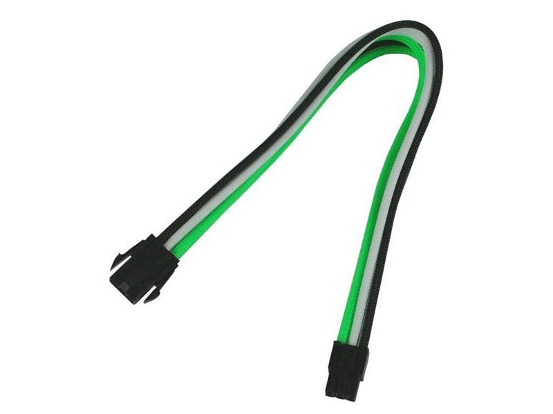 Аксессуар Удлинитель Nanoxia 6-pin PCI-E 30cm Green-White-Black NX6PV3EGWS