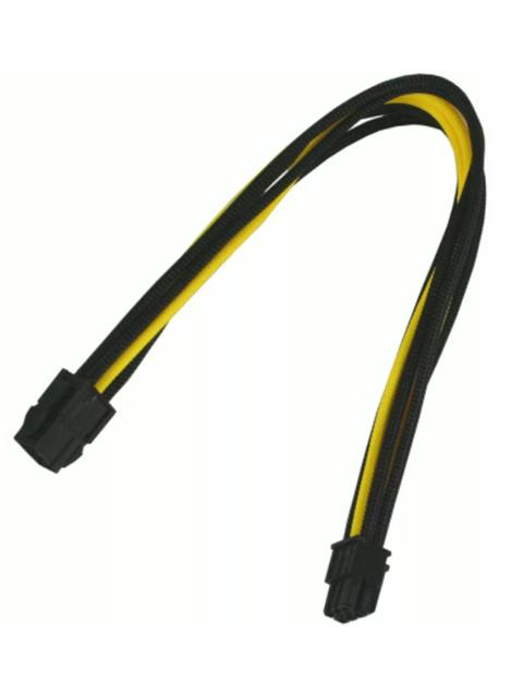 Аксессуар Удлинитель Nanoxia 6-pin PCI-E 30cm Black-Yellow NX6PV3ESG