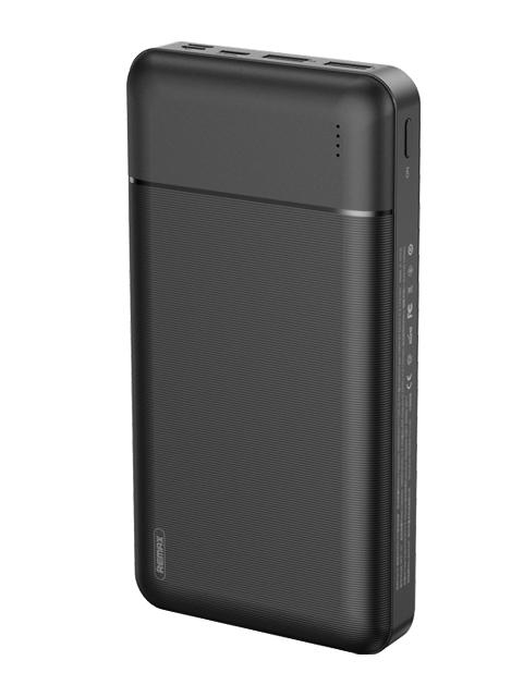 Внешний аккумулятор Remax Power Bank Lango RPP-167 30000mAh Black 6972174154879 внешний аккумулятор hoco power bank b39 magic stone pd 30000mah metal gray