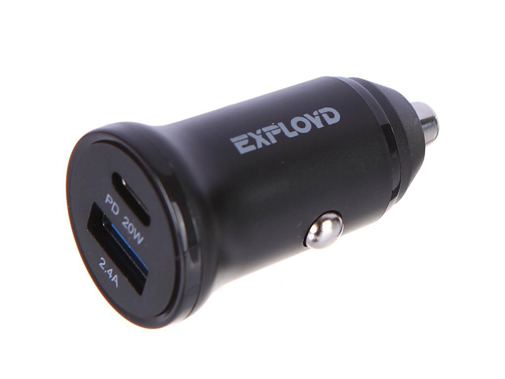 Зарядное устройство Exployd Rash 1хUSB 2.4A PD 20W EX-Z-1137