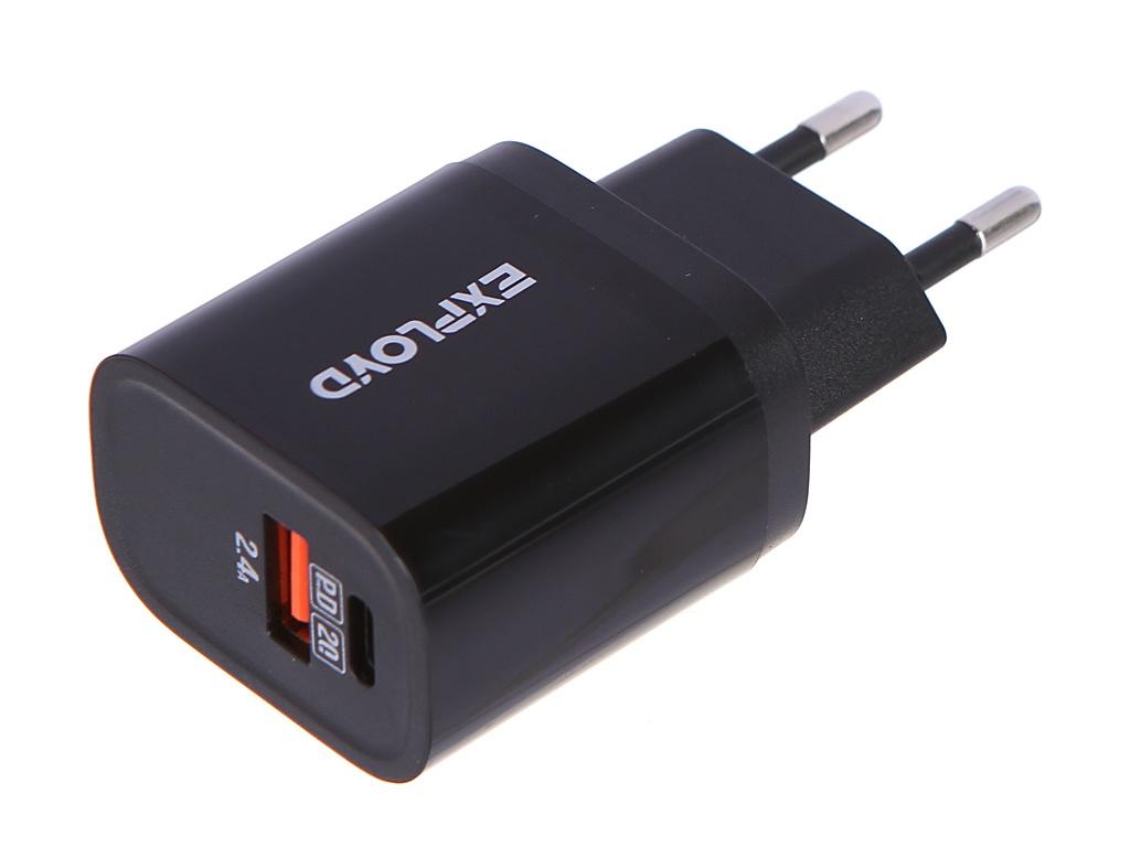 Зарядное устройство Exployd Rash 1хUSB 2.4A QC3.0 PD 20W EX-Z-1127