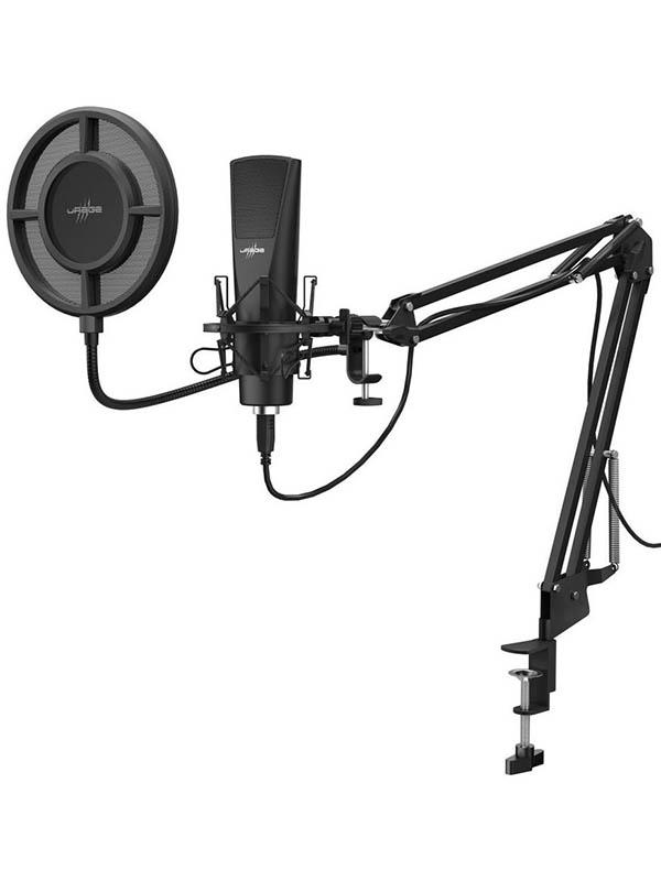 Фото - Микрофон Hama Stream 800 HD Black 00186020 микрофон проводной hama allround 00139906 2м black