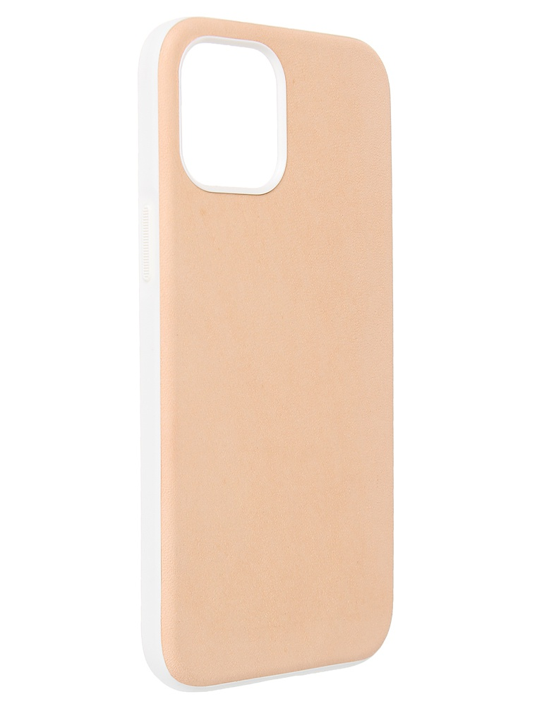 Чехол Nomad для APPLE iPhone 12 Pro Max (6.7) Rugged Case Genuine Leather совместим с MagSafe Beige NM01973485