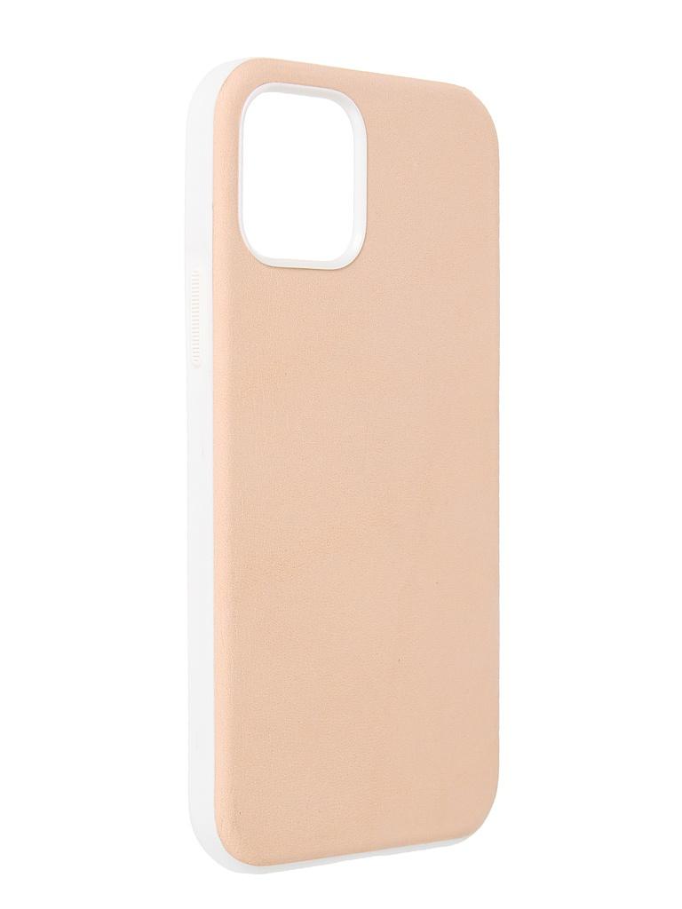 Чехол Nomad для APPLE iPhone 12/12 Pro (6.1) Rugged Case Genuine Leather совместим с MagSafe Beige NM01972785