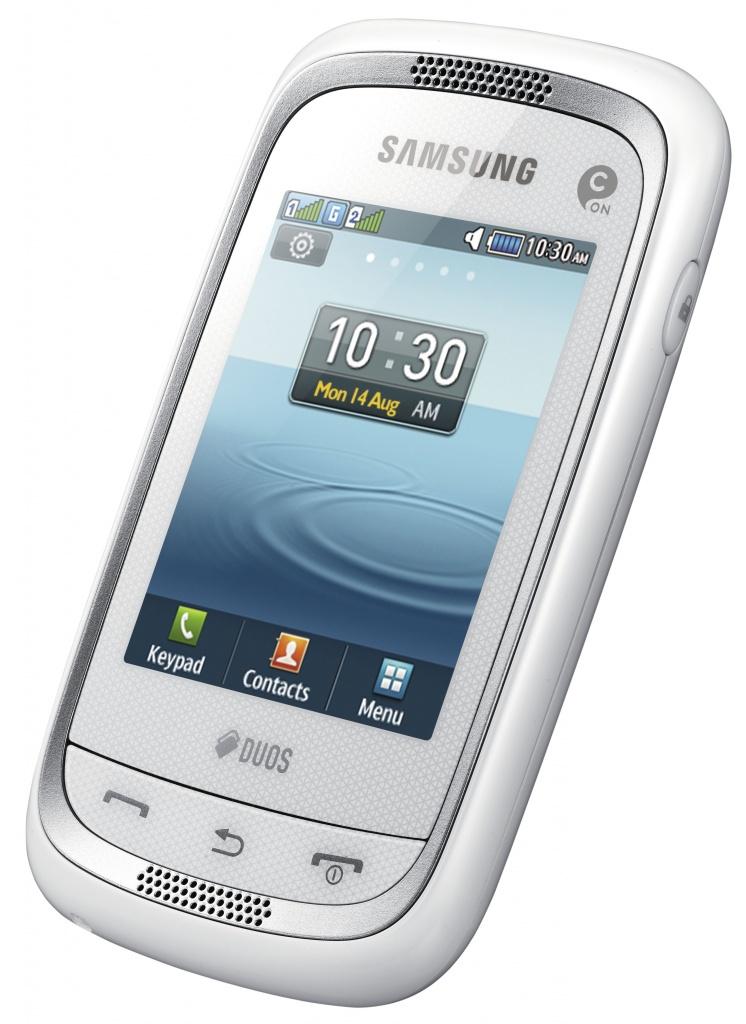 Сотовый телефон Samsung GT-C3262 Champ Neo Duos Ceramic White