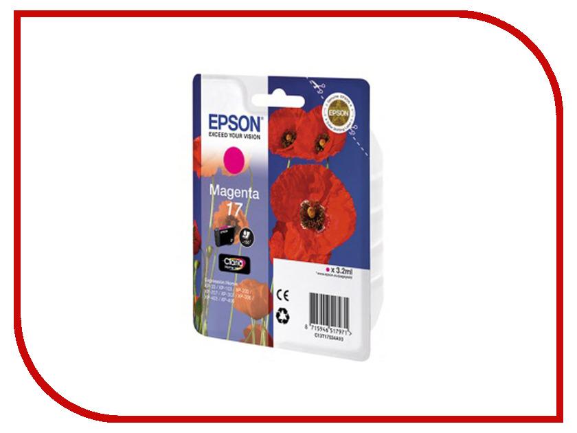 Картридж Epson T1703 C13T17034A10 Magenta для XP-33/103/203/207/303/306/403/406<br>