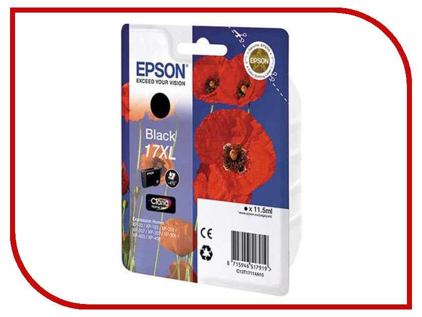 Картридж Epson T1711 C13T17114A10 Black для XP-33/103/203/207/303/306/403/406<br>