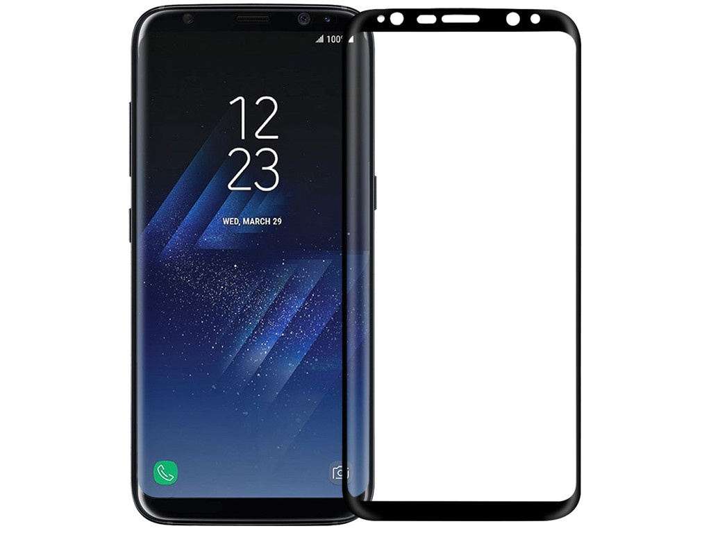 Защитное стекло Media Gadget для Samsung Galaxy S8 Plus 3D Full Cover Glass Glue Black Frame D3DFGGS8PBK