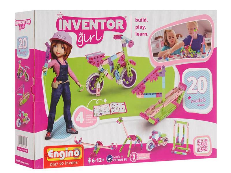Конструктор Engino Inventor Girls 20 моделей из одного комплекта IG20