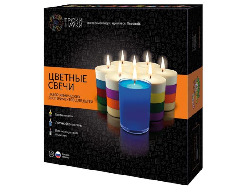 Игра Трюки Науки Набор химических экспериментов Цветные свечи Z003
