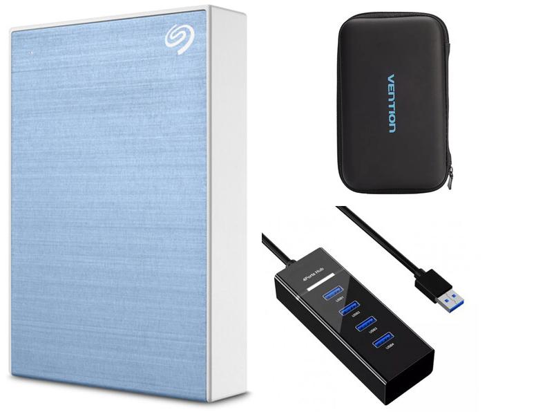 Жесткий диск Seagate One Touch Portable Drive 1Tb Light Blue STKB1000402 Выгодный набор + серт. 200Р!!! жесткий диск seagate expansion portable 2tb stea2000400 выгодный набор серт 200р